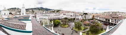 Panorama photo La Plaza Grande Ecuador