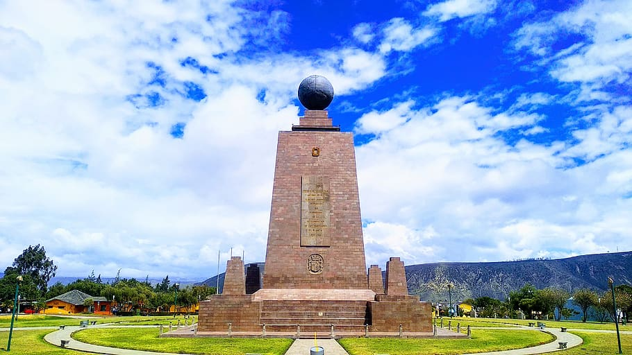 The monument of the Equator
